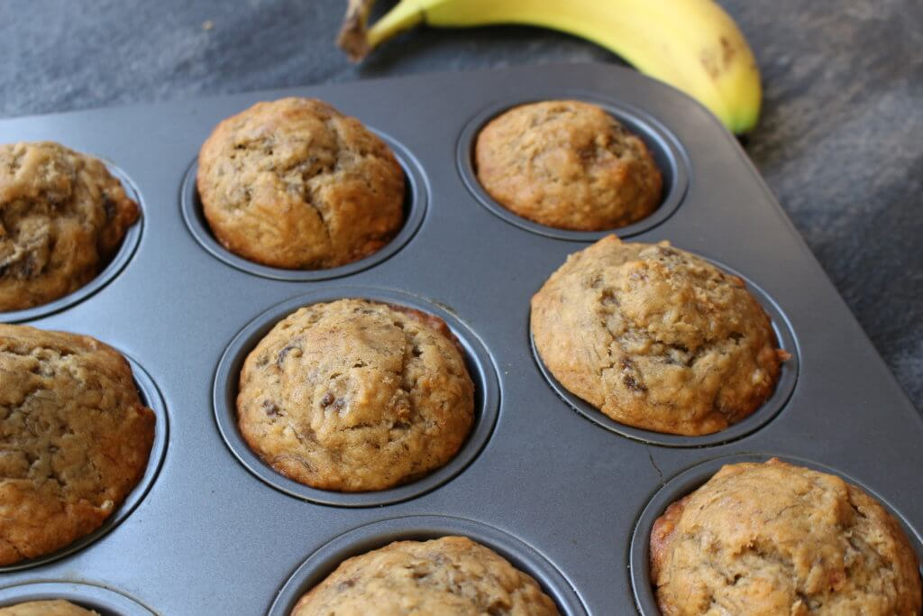 Easy Banana Bread Muffins Mom To Mom Nutrition