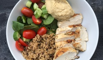 Greek chicken bowls make a delicious one-bowl meal that is packed with fresh, Greek flavors and is easily customizable depending on your family's favorite veggies!