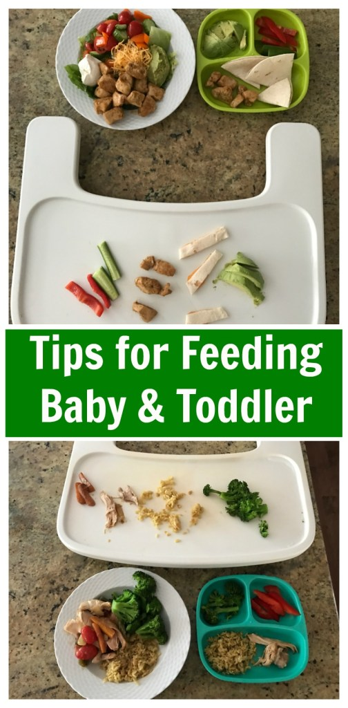 When you have a baby and toddler at home, feeding your family and yourself can be a daunting task. Here are a few tips for feeding a baby and toddler, tears-free!