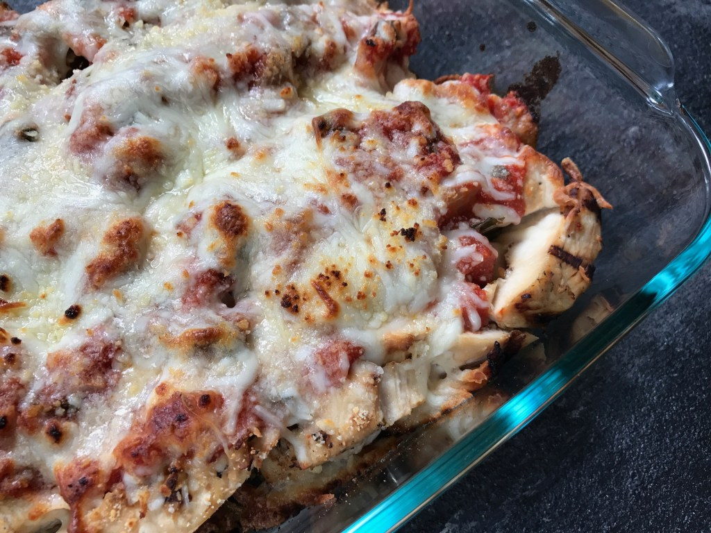 Meal prep recipe grilled chicken parmesan mom to mom nutrition grilled chicken parmesan is a lighter version of the italian classic made even easier by forumfinder Image collections