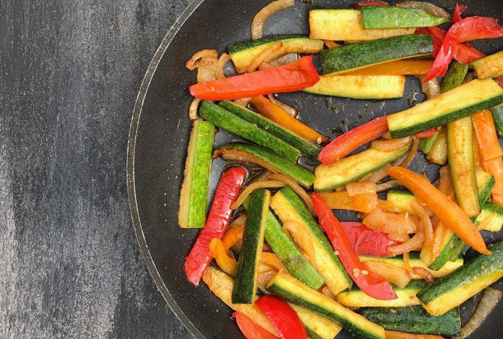 Spice-up taco night with taco seasoned veggies. The perfect healthy side dish to a traditionally carbohydrate heavy meal!