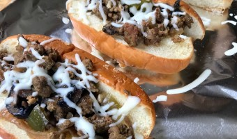 Slow Cooker Ground Beef Hoagies