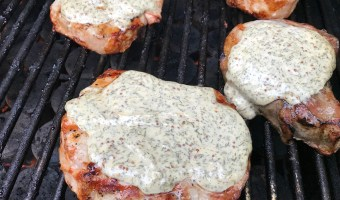 Grilled pork chops with lemony dill sauce make a delicious main for any BBQ or outdoor gathering. Fresh, fast, and simple, the sauce it what makes the pork extra moist!