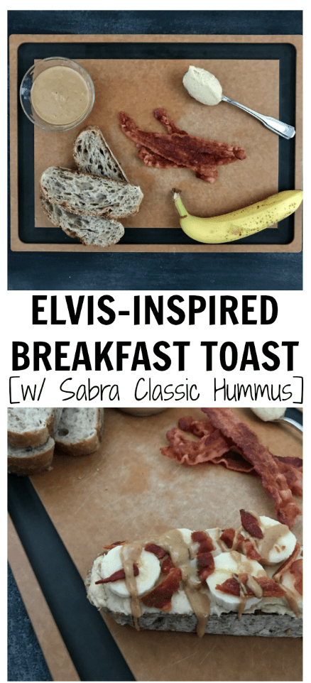 This Elvis Hummus Breakfast Toast has all of the ingredients the king of rock n' roll would love, plus a few extra healthy ingredients you can't pass up.