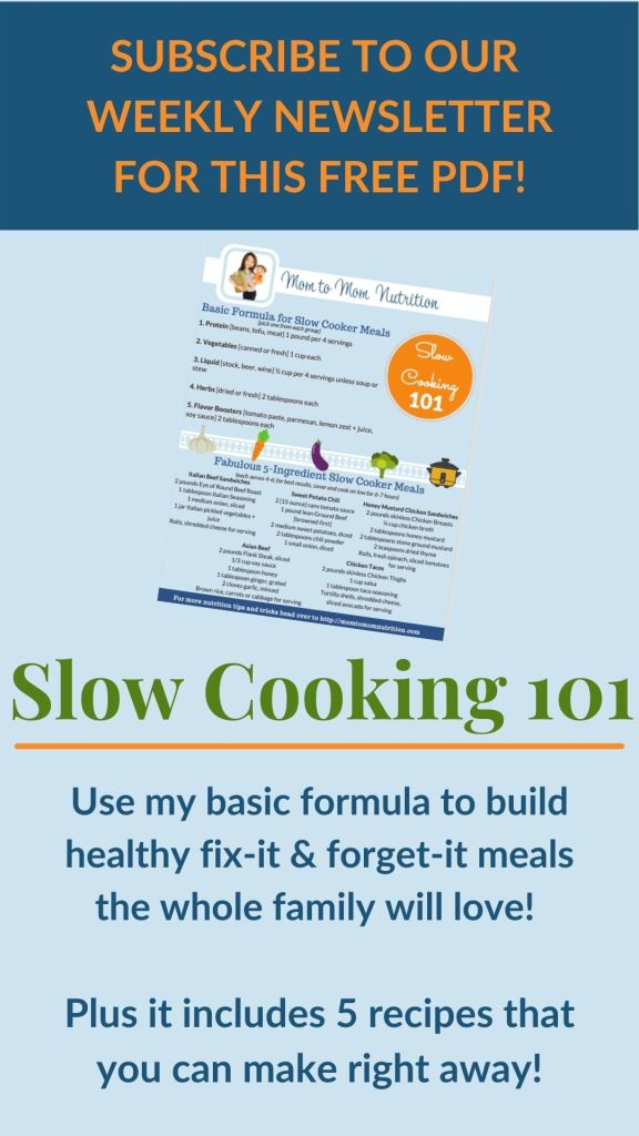 Mom to Mom Nutrition Slow Cooker 101 Freebee