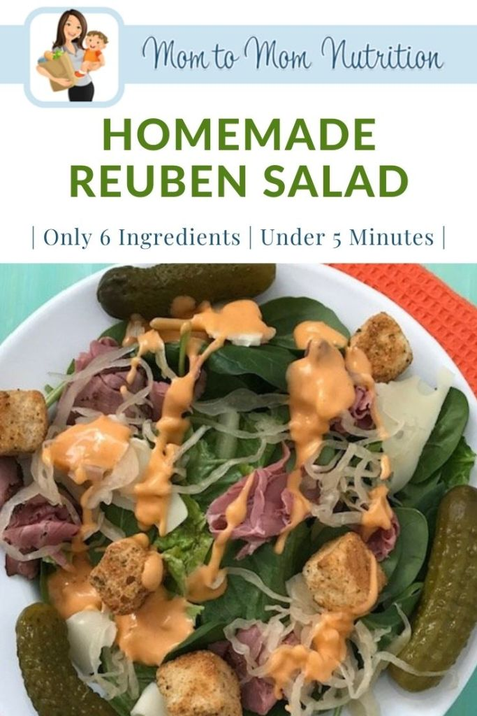 #ad Homemade Reuben Salad is just that: A Reuben sandwich deconstructed in salad form. Light, healthy, and packed full of nutritious ingredients.