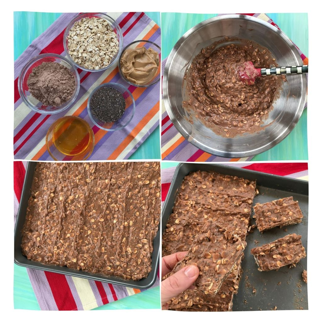 How to make no-bake chocolate protein bars.