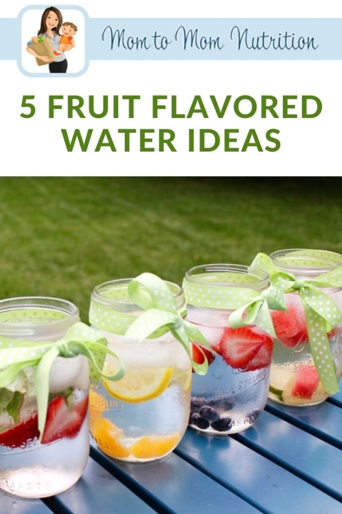 Fruit flavored water is naturally flavored with fresh fruit and herbs. It is sure to quench your thirst in a healthy and refreshing way!