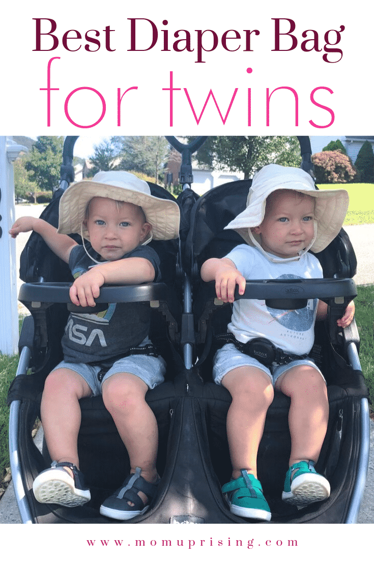Double the cuteness, and stuff... Which diaper bag is the best for twins? We (real twin parents) break down the best diaper bags for twins and which is our absolute favorite pick. #twins #babygear #twinmom #momlife