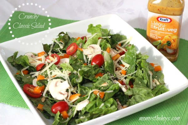 Crunchy Classic Salad with Kraft Pourables