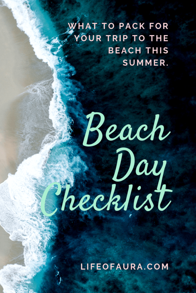 Trips to the beach all summer long needs the perfect beach day checklist. Don't forget something important! #beach #checklist #beachtrip #beachday