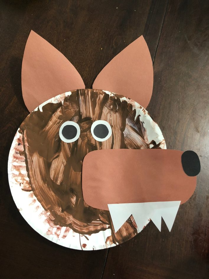 Paper Plate Wolf Craft Mom Wife Wine
