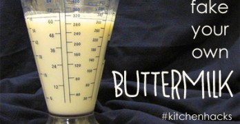 How to Fake Your Own Buttermilk (a cheat)