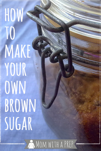 When you've run out of brown sugar, there are two simple steps to making your own. Learn how! // Mom with a PREP