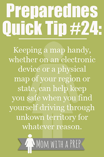 While in everyday driving mode, you probably know exactly where you are and where you are going,  but what happens if you are in unfamiliar territory...or  an emergency happens & you are forced to drive in an unknown route...having a map can truly save you!