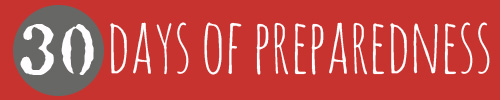 30 Days of Preparedness 2014 Campaign by the Prepared Bloggers @ Momwithaprep.com