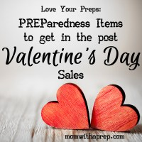 PREParedness Items to get in Post Valentine's Day Sales