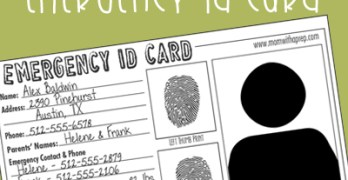 Emergency ID Cards – Free Download