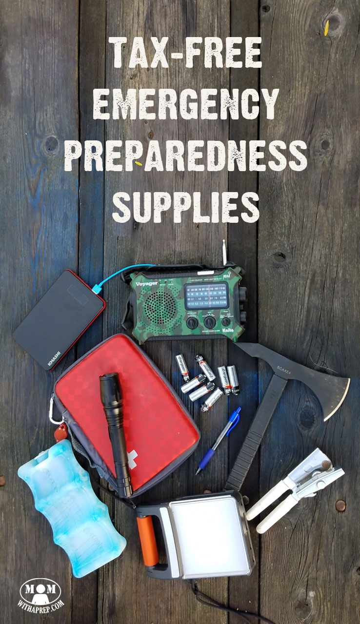 Get tax free emergency preparedness supplies - how? Check out the list of states offering tax free holidays for emergency preparedness and back to school!