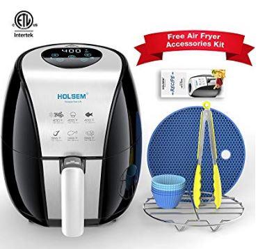 HOLSEM Air Fryer with Rapid Air Circulation System, 3.4 QT Capacity