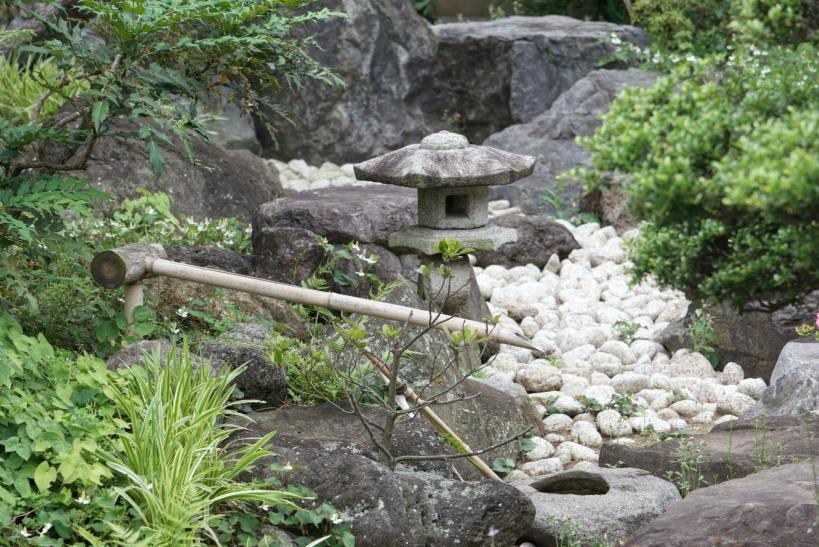 L'eau est un élément essentiel du jardin japonais