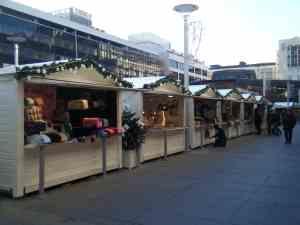 Chalets origine France sur le marché de noël de Rennes
