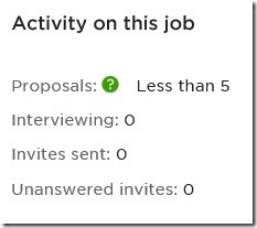 Le candidat Freelance sur Upwork