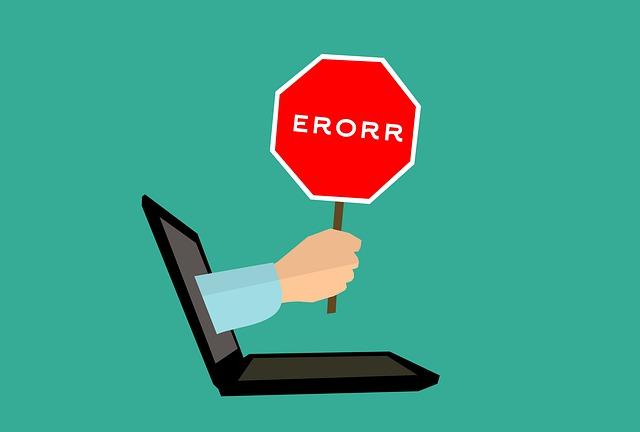 Apprenez à faire des erreurs tout en évitant une bévue qui serait impardonnable