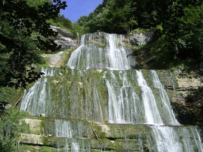Cascade de l'évantail. Photo par Donniedarko37 (Domaine public)