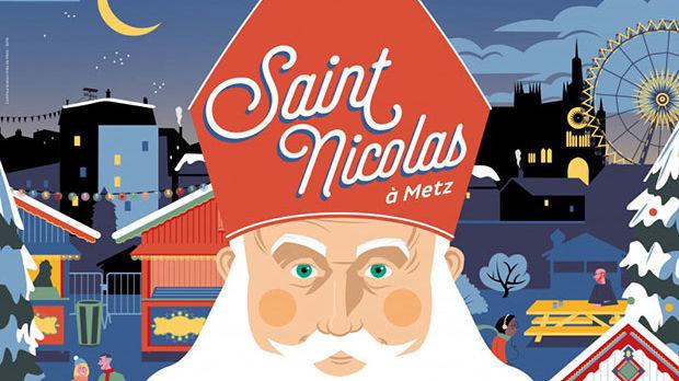 Affiche promotionnelle de Saint-Nicolas à Metz