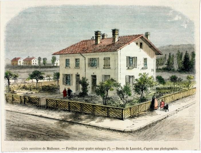 Un exemple de Carré Mulhousien vers 1855