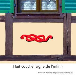 Huit couché, signe de l'infini © French Moments