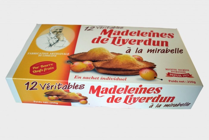 Une boîte de madeleines de Liverdun à la mirabelle (photo par French Moments)