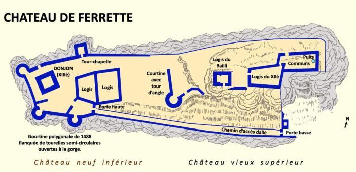 Plan du château de Ferrette