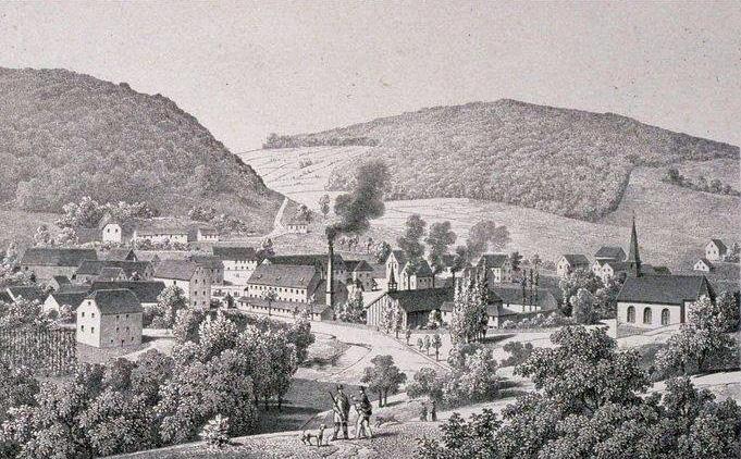 Verreries de Meisenthal en 1860