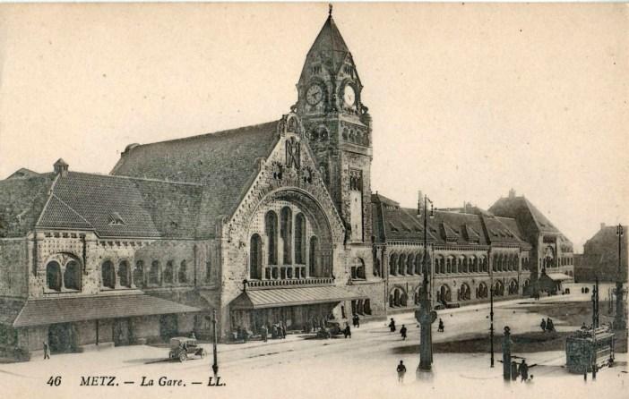 Gare de Metz dans les années 1920