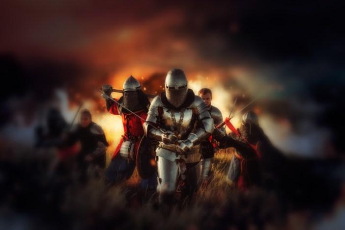 Chevaliers au combat. Photo by NomadSoul1 @ Envato