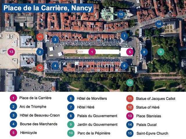 Plan de la Place de la Carrière, Nancy