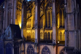 Détail de la cathédrale de Metz vue depuis la grande roue de Noël © French Moments