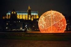 Illuminations de Noël sur la place de la Comédie à Metz © French Moments