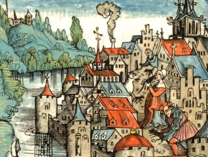 Nancy Assiégée par Charles le Téméraire gravure de 1518