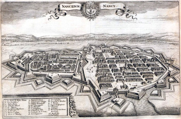 Plan de Nancy en 1645