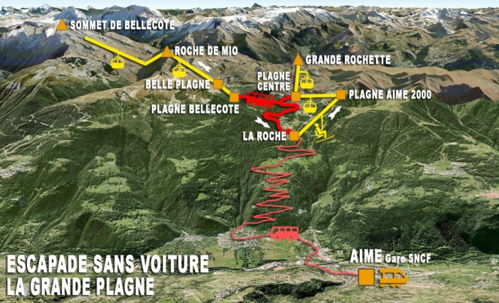 La Grande Plagne Map by French Moments