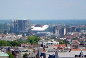 Le quartier des institutions européennes vu de la cathédrale de Strasbourg © French Moments