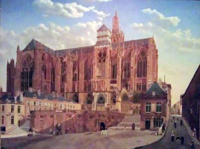 La cathédrale de Metz peinte par Gavard en 1826