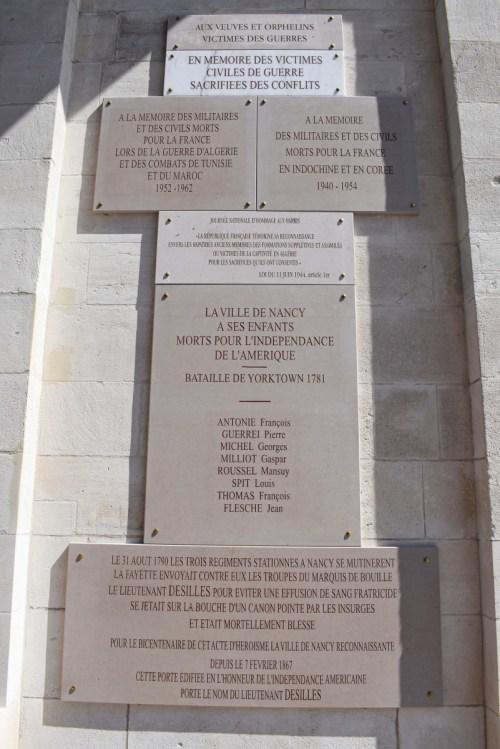 La plaque commémorative du Monument Désilles © French Moments