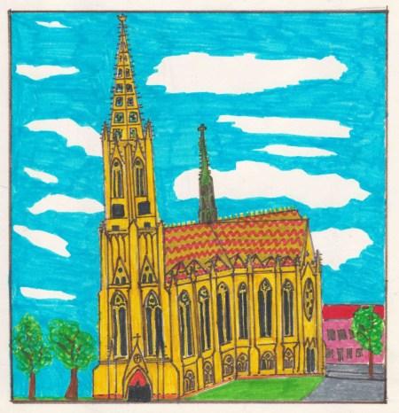 Mon dessin d'enfant de la Gedaechtnikirche de Spire © Pierre Guernier - French Moments