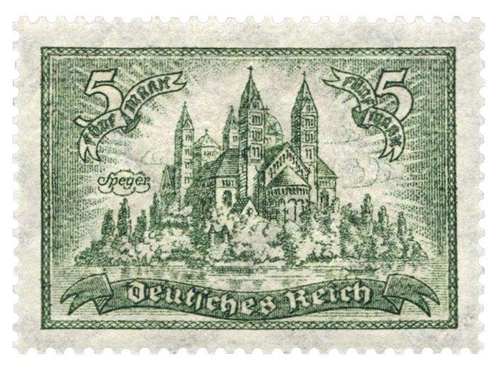 Le Kaiserdom de Spire en version timbre (1924)