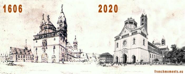 Avant-Après : la façade occidentale de la cathédrale de Spire (image par French Moments)