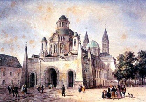 La façade occidentale de la cathédrale de Spire en 1840